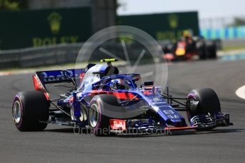 World © Octane Photographic Ltd. Formula 1 – Hungarian GP - Race. Scuderia Toro Rosso STR13 – Pierre Gasly. Hungaroring, Budapest, Hungary. Sunday 29th July 2018.