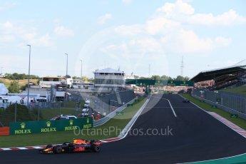 World © Octane Photographic Ltd. Formula 1 – Hungarian GP - Race. Aston Martin Red Bull Racing TAG Heuer RB14 – Max Verstappen. Hungaroring, Budapest, Hungary. Sunday 29th July 2018.
