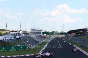 World © Octane Photographic Ltd. Formula 1 – Hungarian GP - Race. Sahara Force India VJM11 - Esteban Ocon. Hungaroring, Budapest, Hungary. Sunday 29th July 2018.