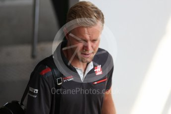 World © Octane Photographic Ltd. Formula 1 – Hungarian GP - Paddock. Haas F1 Team – Kevin Magnussen. Hungaroring, Budapest, Hungary. Friday 27th July 2018.