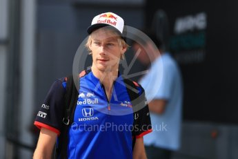 World © Octane Photographic Ltd. Formula 1 – Hungarian GP - Paddock. Scuderia Toro Rosso STR13 – Brendon Hartley. Hungaroring, Budapest, Hungary. Saturday 28th July 2018.
