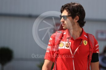 World © Octane Photographic Ltd. Formula 1 – Hungarian GP - Paddock. Scuderia Ferrari – Antonio Giovinazzi. Hungaroring, Budapest, Hungary. Saturday 28th July 2018.
