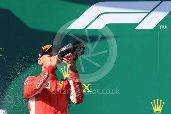 World © Octane Photographic Ltd. Formula 1 – Hungarian GP - Podium. Scuderia Ferrari SF71-H – Sebastian Vettel. Hungaroring, Budapest, Hungary. Sunday 29th July 2018.