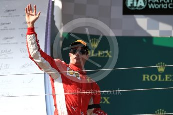 World © Octane Photographic Ltd. Formula 1 – Hungarian GP - Podium. Scuderia Ferrari SF71-H – Kimi Raikkonen. Hungaroring, Budapest, Hungary. Sunday 29th July 2018.