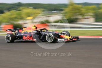 World © Octane Photographic Ltd. Formula 1 – Hungarian GP - Practice 1. Aston Martin Red Bull Racing TAG Heuer RB14 – Max Verstappen. Hungaroring, Budapest, Hungary. Friday 27th July 2018.