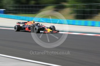 World © Octane Photographic Ltd. Formula 1 – Hungarian GP - Practice 1. Aston Martin Red Bull Racing TAG Heuer RB14 – Max Verstappen. Hungaroring, Budapest, Hungary. Friday 27th July 2018.