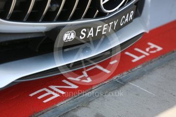 World © Octane Photographic Ltd. Formula 1 - Hungarian GP - Practice 1. Mercedes AMG F1 Safety car in the pit lane. Hungaroring, Budapest, Hungary. Friday 27th July 2018.