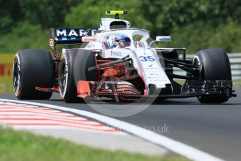 World © Octane Photographic Ltd. Formula 1 – Hungarian GP - Practice 1. Williams Martini Racing FW41 – Sergey Sirotkin. Hungaroring, Budapest, Hungary. Friday 27th July 2018.