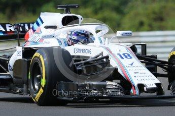 World © Octane Photographic Ltd. Formula 1 – Hungarian GP - Practice 1. Williams Martini Racing FW41 – Lance Stroll. Hungaroring, Budapest, Hungary. Friday 27th July 2018.