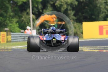 World © Octane Photographic Ltd. Formula 1 – Hungarian GP - Practice 1. Scuderia Toro Rosso STR13 – Pierre Gasly. Hungaroring, Budapest, Hungary. Friday 27th July 2018.