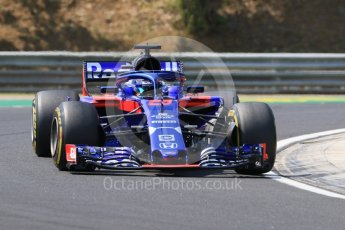 World © Octane Photographic Ltd. Formula 1 – Hungarian GP - Practice 1. Scuderia Toro Rosso STR13 – Brendon Hartley. Hungaroring, Budapest, Hungary. Friday 27th July 2018.