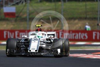 World © Octane Photographic Ltd. Formula 1 – Hungarian GP - Practice 1. Alfa Romeo Sauber F1 Team C37 – Antonio Giovinazzi. Hungaroring, Budapest, Hungary. Friday 27th July 2018.