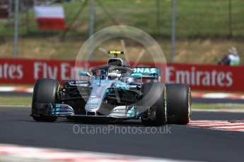 World © Octane Photographic Ltd. Formula 1 – Hungarian GP - Practice 1. Mercedes AMG Petronas Motorsport AMG F1 W09 EQ Power+ - Valtteri Bottas. Hungaroring, Budapest, Hungary. Friday 27th July 2018.