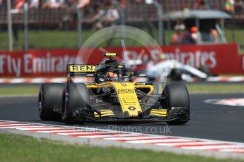 World © Octane Photographic Ltd. Formula 1 – Hungarian GP - Practice 1. Renault Sport F1 Team RS18 – Carlos Sainz and Alfa Romeo Sauber F1 Team C37 – Antonio Giovinazzi. Hungaroring, Budapest, Hungary. Friday 27th July 2018.