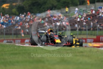 Aston Martin Red Bull Racing TAG Heuer RB14 – Daniel Ricciardo and Renault Sport F1 Team RS18 – Carlos Sainz. Hungaroring, Budapest, Hungary. Friday 27th July 2018.