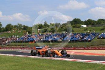 World © Octane Photographic Ltd. Formula 1 – Hungarian GP - Practice 1. McLaren MCL33 – Stoffel Vandoorne. Hungaroring, Budapest, Hungary. Friday 27th July 2018.