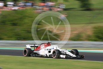 World © Octane Photographic Ltd. Formula 1 – Hungarian GP - Practice 2. Alfa Romeo Sauber F1 Team C37 – Marcus Ericsson. Hungaroring, Budapest, Hungary. Friday 27th July 2018.