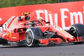 World © Octane Photographic Ltd. Formula 1 – Hungarian GP - Practice 2. Scuderia Ferrari SF71-H – Kimi Raikkonen. Hungaroring, Budapest, Hungary. Friday 27th July 2018.