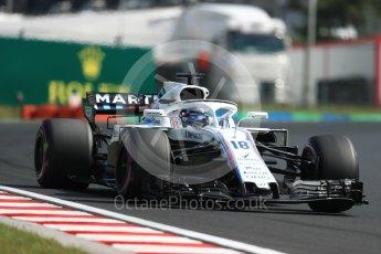 World © Octane Photographic Ltd. Formula 1 – Hungarian GP - Practice 2. Williams Martini Racing FW41 – Lance Stroll. Hungaroring, Budapest, Hungary. Friday 27th July 2018.