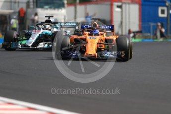World © Octane Photographic Ltd. Formula 1 – Hungarian GP - Practice 2. McLaren MCL33 – Fernando Alonso. Hungaroring, Budapest, Hungary. Friday 27th July 2018.