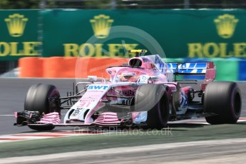 World © Octane Photographic Ltd. Formula 1 – Hungarian GP - Practice 3. Sahara Force India VJM11 - Esteban Ocon. Hungaroring, Budapest, Hungary. Saturday 28th July 2018.