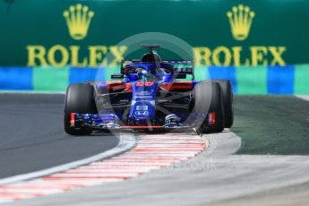 World © Octane Photographic Ltd. Formula 1 – Hungarian GP - Practice 3. Scuderia Toro Rosso STR13 – Brendon Hartley. Hungaroring, Budapest, Hungary. Saturday 28th July 2018.
