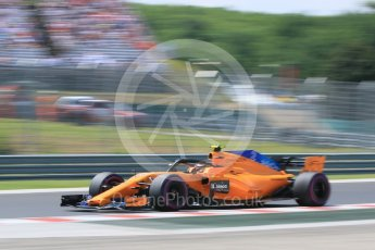 World © Octane Photographic Ltd. Formula 1 – Hungarian GP - Practice 3. McLaren MCL33 – Stoffel Vandoorne. Hungaroring, Budapest, Hungary. Saturday 28th July 2018.