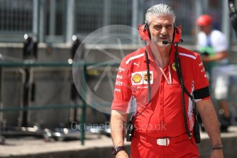 World © Octane Photographic Ltd. Formula 1 - Hungarian GP - Practice 3. Maurizio Arrivabene – Managing Director and Team Principal of Scuderia Ferrari. Hungaroring, Budapest, Hungary. Saturday 28th July 2018.