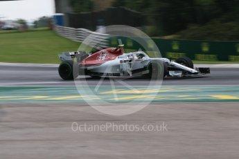 World © Octane Photographic Ltd. Formula 1 – Hungarian GP - Qualifying. Alfa Romeo Sauber F1 Team C37 – Charles Leclerc. Hungaroring, Budapest, Hungary. Saturday 28th July 2018.