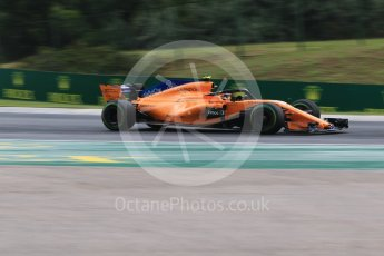World © Octane Photographic Ltd. Formula 1 – Hungarian GP - Qualifying. McLaren MCL33 – Stoffel Vandoorne. Hungaroring, Budapest, Hungary. Saturday 28th July 2018.