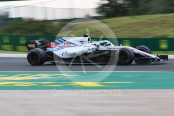 World © Octane Photographic Ltd. Formula 1 – Hungarian GP - Qualifying. Williams Martini Racing FW41 – Lance Stroll. Hungaroring, Budapest, Hungary. Saturday 28th July 2018.
