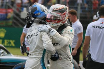 World © Octane Photographic Ltd. Formula 1 – Hungarian GP - Qualifying. Mercedes AMG Petronas Motorsport AMG F1 W09 EQ Power+ - Lewis Hamilton and Valtteri Bottas. Hungaroring, Budapest, Hungary. Saturday 28th July 2018.