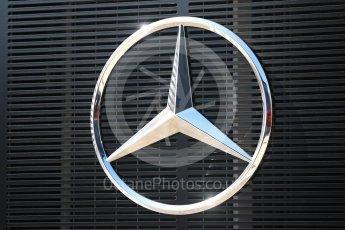 World © Octane Photographic Ltd. Formula 1 – Hungarian GP - Paddock. Mercedes Star logo. Hungaroring, Budapest, Hungary. Sunday 29th July 2018.