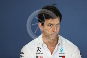 World © Octane Photographic Ltd. Formula 1 - Hungarian GP - Friday FIA Team Press Conference. Toto Wolff - Executive Director & Head of Mercedes-Benz Motorsport. Hungaroring, Budapest, Hungary. Friday 27th July 2018.