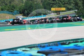 World © Octane Photographic Ltd. FIA Formula 2 (F2) – Hungarian GP - Race 2. The grid makes it Turn 2. Hungaroring, Budapest, Hungary. Sunday 29th July 2018.