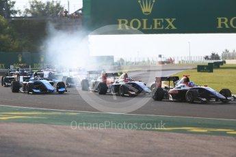World © Octane Photographic Ltd. GP3 – Hungarian GP – Race 1. Trident - Ryan Tveter and David Beckmann. Hungaroring, Budapest, Hungary. Saturday 28th July 2018.