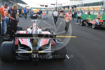 World © Octane Photographic Ltd. GP3 – Hungarian GP –   Race 1. Front 4 on thw grid. Hungaroring, Budapest, Hungary. Saturday 28th May 2018.