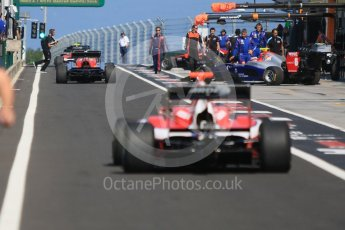 World © Octane Photographic Ltd. GP3 – Hungarian GP – Race 2. Arden International - the field forms up in the pit lane. Hungaroring, Budapest, Hungary. Sunday 29th July 2018.