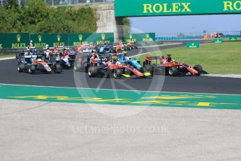 World © Octane Photographic Ltd. GP3 – Hungarian GP – Race 2. ART Grand Prix - Callum Illot and Anthoine Hubert. Hungaroring, Budapest, Hungary. Sunday 29th July 2018.