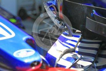 World © Octane Photographic Ltd. Formula 1 – Hungarian GP - Pitlane. Scuderia Toro Rosso STR13. Hungaroring, Budapest, Hungary. Thursday 26th July 2018.