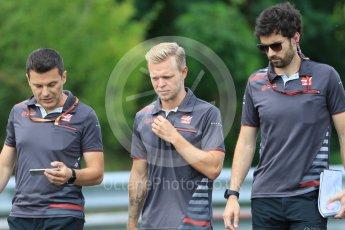 World © Octane Photographic Ltd. Formula 1 – Hungarian GP - Track Walk. Haas F1 Team VF-18 – Kevin Magnussen. Hungaroring, Budapest, Hungary. Thursday 26th July 2018.