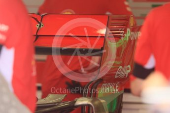 World © Octane Photographic Ltd. Formula 1 – Hungarian GP - Pit Lane. Scuderia Ferrari SF71-H. Hungaroring, Budapest, Hungary. Thursday 26th July 2018.
