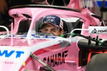 World © Octane Photographic Ltd. Formula 1 – Hungarian GP - Pit Lane. Sahara Force India VJM11 - Sergio Perez. Hungaroring, Budapest, Hungary. Thursday 26th July 2018.