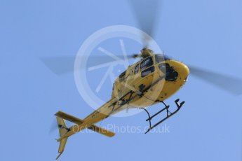 World © Octane Photographic Ltd. Formula 1 – Hungarian GP - Paddock. TV Helicopter OO-HCE - Aerospatiale AS 355N Ecureuil 2. Hungaroring, Budapest, Hungary. Thursday 26th July 2018.