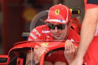 World © Octane Photographic Ltd. Formula 1 – Hungarian GP - Pit Lane. Scuderia Ferrari SF71-H – Kimi Raikkonen. Hungaroring, Budapest, Hungary. Thursday 26th July 2018.