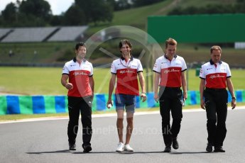 World © Octane Photographic Ltd. Formula 1 – Hungarian GP - Track walk. Alfa Romeo Sauber F1 Team - Charles Leclerc. Hungaroring, Budapest, Hungary. Thursday 26th July 2018.