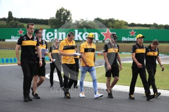 World © Octane Photographic Ltd. Formula 1 – Hungarian GP - Track walk. Renault Sport F1 Team RS18 – Carlos Sainz. Hungaroring, Budapest, Hungary. Thursday 26th July 2018.