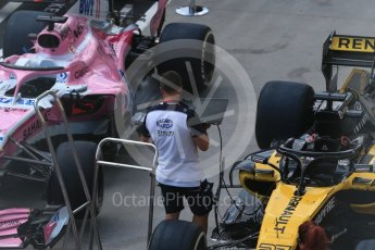 World © Octane Photographic Ltd. Formula 1 – Hungarian GP - Pit Lane. Renault Sport F1 Team RS18 – Nico Hulkenberg. Hungaroring, Budapest, Hungary. Thursday 26th July 2018.