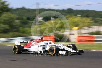 World © Octane Photographic Ltd. Formula 1 – Hungarian Post-Race Test - Day 1. Alfa Romeo Sauber F1 Team C37 – Marcus Ericsson. Hungaroring, Budapest, Hungary. Tuesday 31st July 2018.