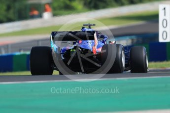World © Octane Photographic Ltd. Formula 1 – Hungarian Post-Race Pirelli Test - Day 1. Scuderia Toro Rosso STR13 – Sean Gelael. Hungaroring, Budapest, Hungary. Tuesday 31st July 2018.